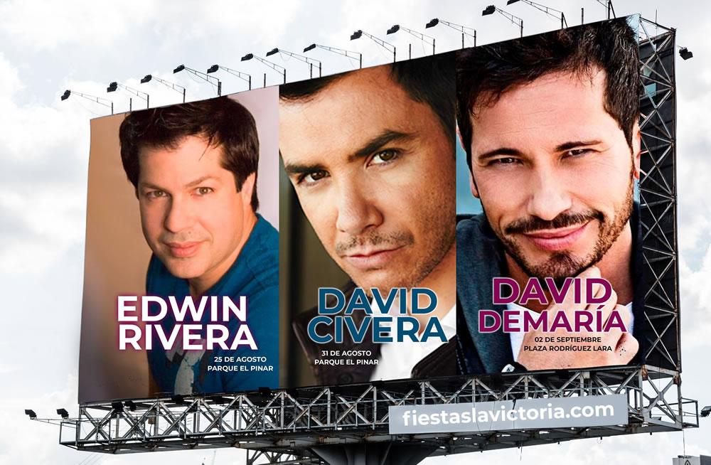 David Civera, Edwin Rivera y David de María estrellas invitadas a las fiestas