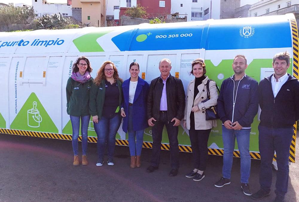 El mini Punto Limpio instalado en La Victoria de Acentejo será itinerante
