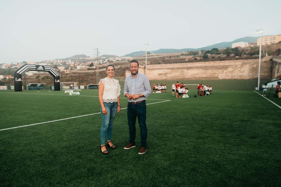 El Ayuntamiento de La Victoria presenta las mejoras ejecutadas en el Campo Municipal de Fútbol