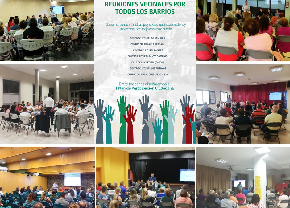 El Ayuntamiento culmina las reuniones vecinales para la elaboración del I Plan de Participación Ciudadana