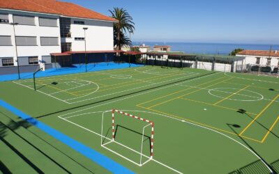 Culmina la mejora del pavimento de la cancha del Colegio de Infantil y Primaria Santo Domingo