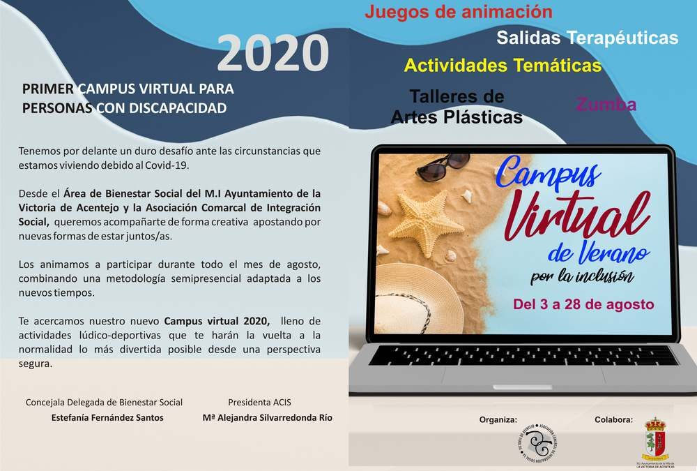 El Consistorio organiza el I Campus Virtual de Verano para personas con discapacidad