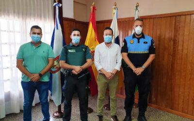 Recepción al nuevo teniente del puesto de la Guardia Civil en La Victoria