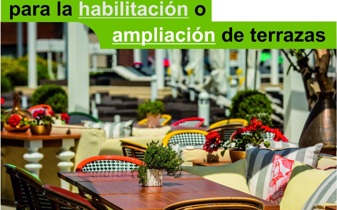 El Ayuntamiento posibilita autorizaciones exprés para la habilitación o ampliación de terrazas