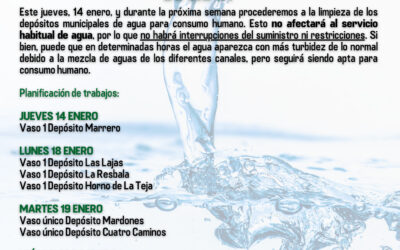 Campaña de limpieza de los depósitos municipales de agua