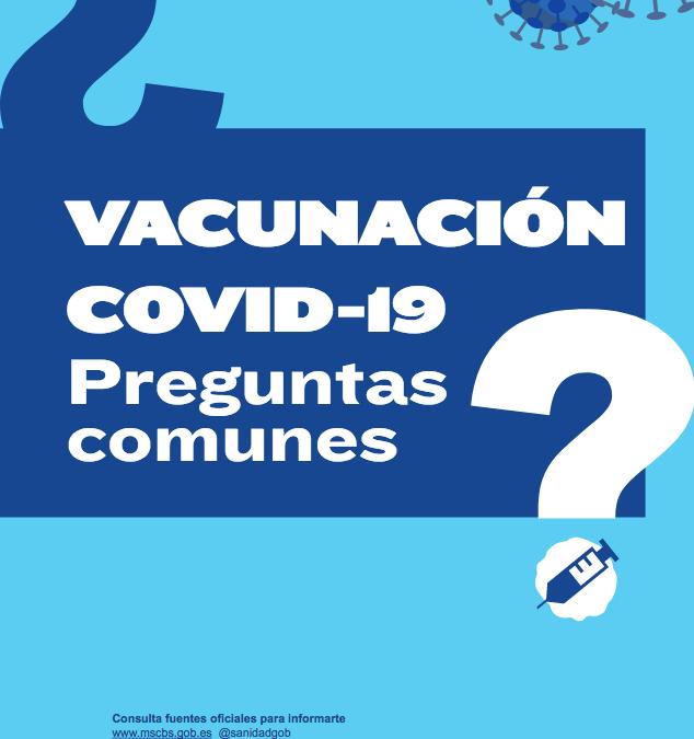 Información sobre la vacunación contra la Covid-19 del Ministerio de Sanidad del Gobierno de España