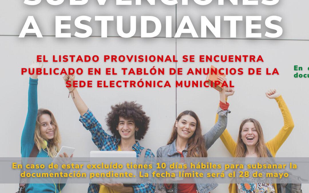 Publicado el listado provisional de beneficiarios/as de las ayudas a estudiantes victorieros