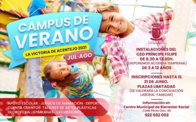Abierto el plazo de inscripción en el Campus de Verano