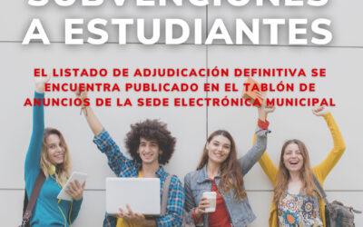 Publicado el listado definitivo de beneficiarios/as de las ayudas a estudiantes victorieros/as