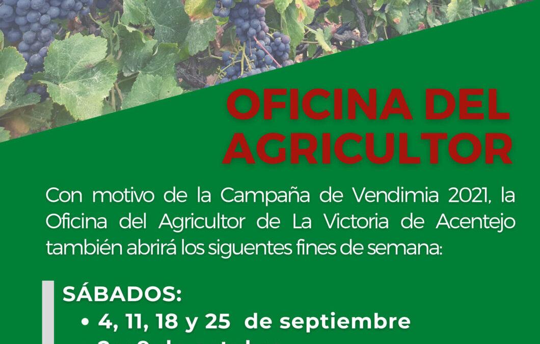 Campaña de vendimia 2021 – Ampliación de días de apertura de la Oficina del Agricultor y recomendaciones para prevenir el Covid-19