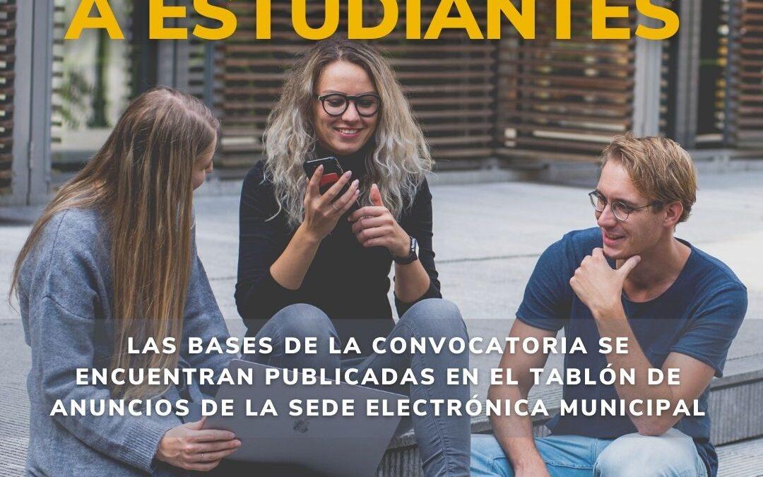 El Ayuntamiento abre una nueva convocatoria de ayudas para estudiantes del municipio