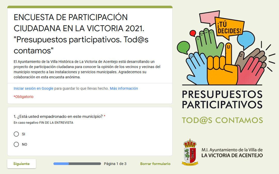 Presupuestos participativos. Tod@s contamos